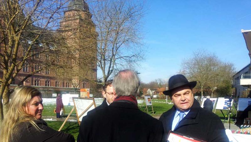 Oberbürgermeister Klaus Herzog im Vorgespräch.