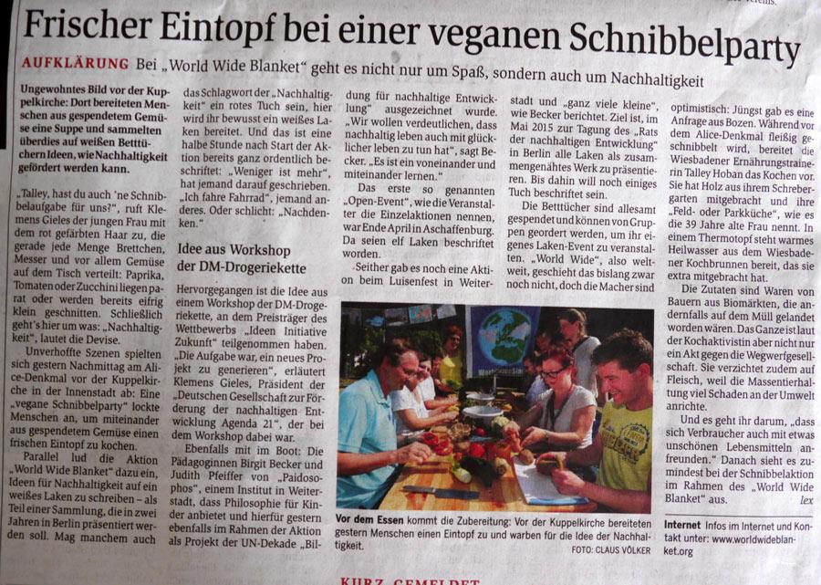 Artikel im Darmstädter Echo 21.06.2013